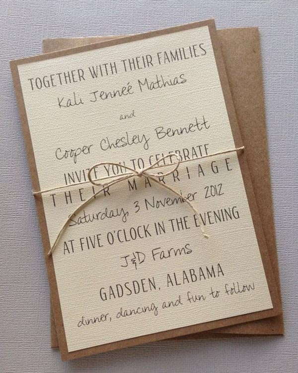 Top 15 popular rustic wedding invitaitons idea samples – Country Style Wedding Invites