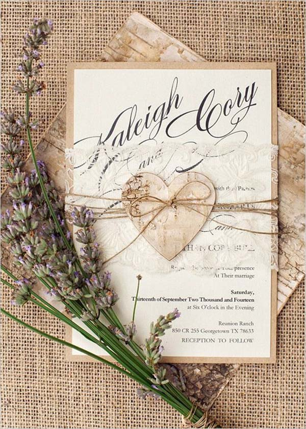 rustic weddings invitation are big hit these days