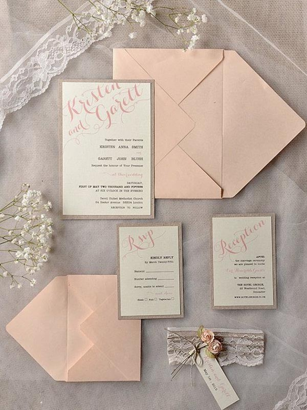 simple rustic wedding invitations