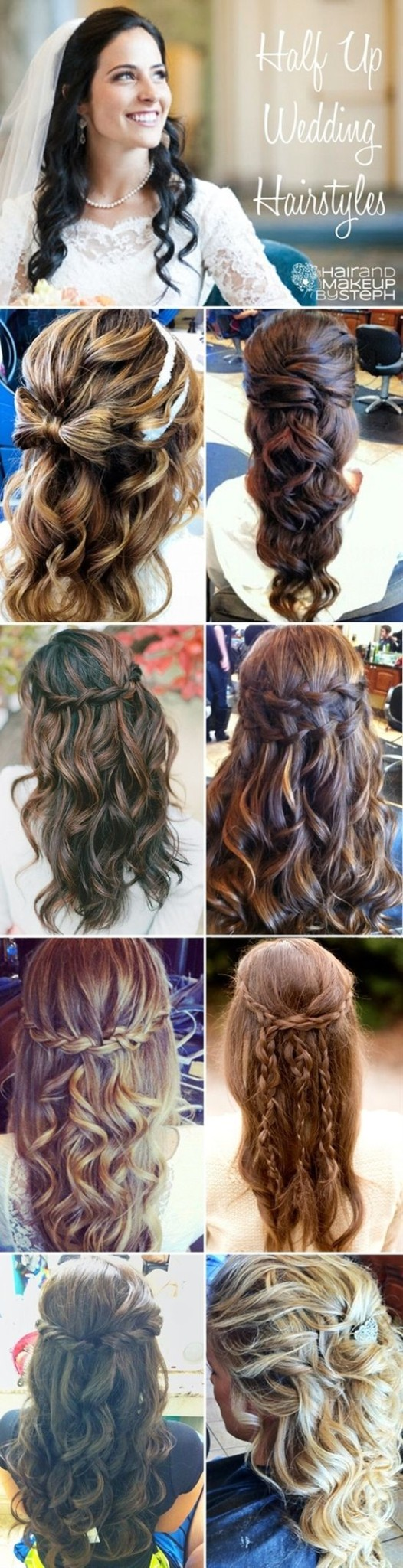 Half Up Half Down Wedding Hairstyles popular 2015