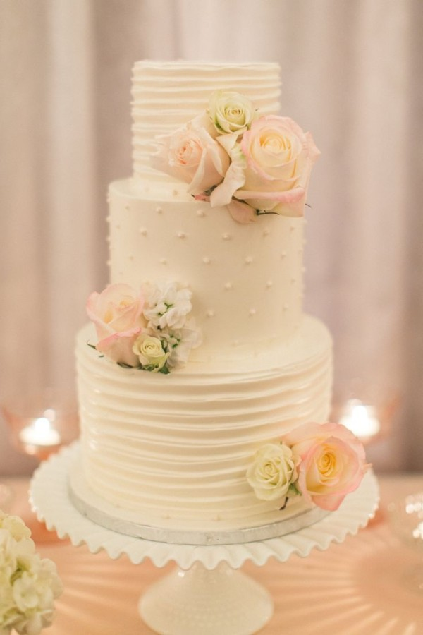 Lemon Poppy Wedding Cake