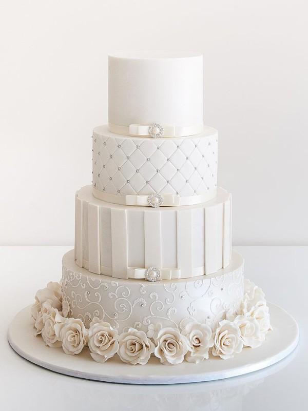 wedding cake decorations rose