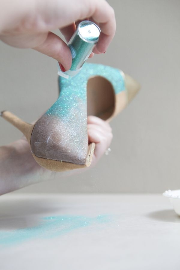 blue wedding shoes dyeable