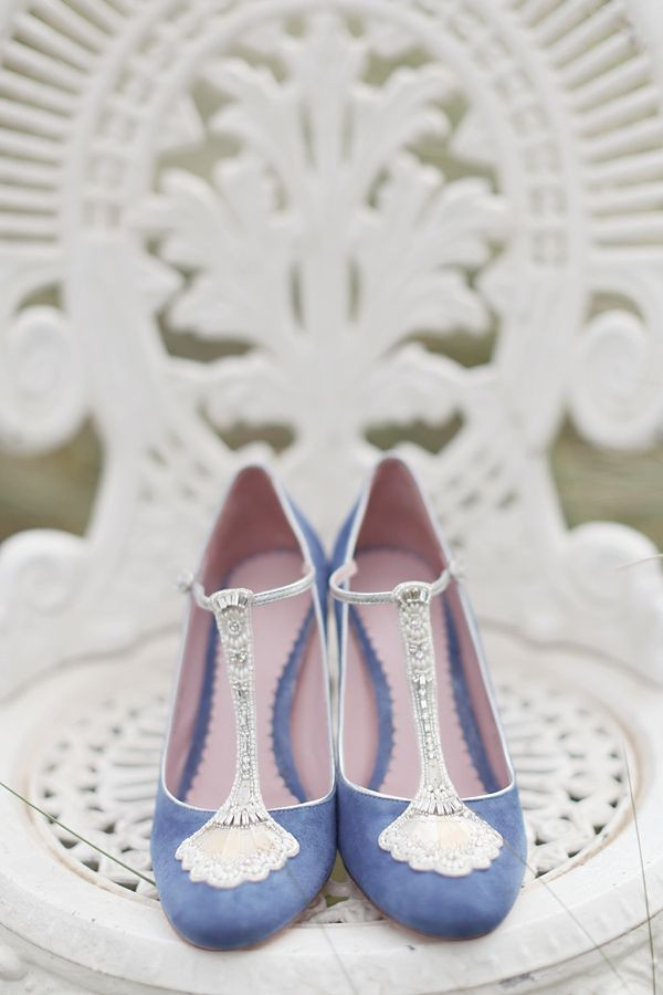 blue wedding shoes for bride and comfortable