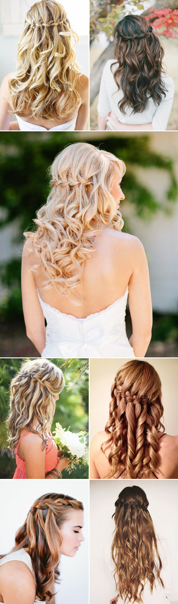 #wedding-hairstyles-waterfall Waterfall Braids