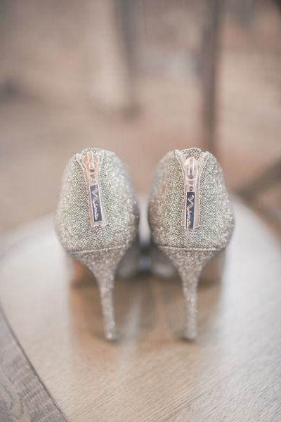 vintage silver wedding shoes ideas