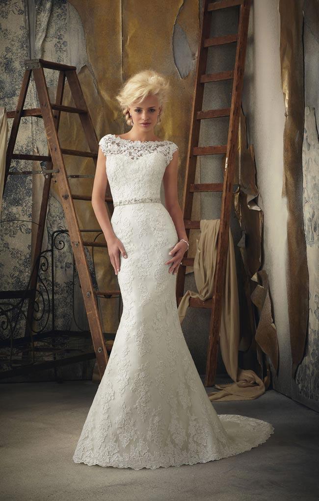Vintage Wedding Gown Style 5835 : Vintage lace wedding dress style weddinginclude ideas