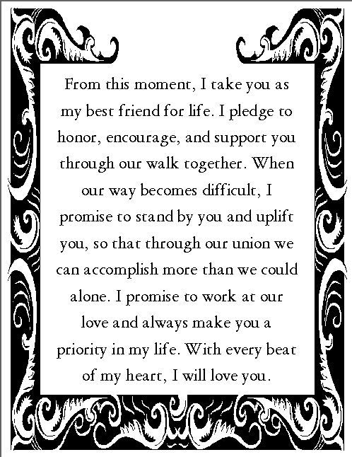 Wedding Vows For Her And Him