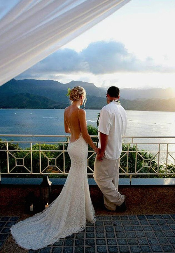 Backless Beach Wedding Dresses
