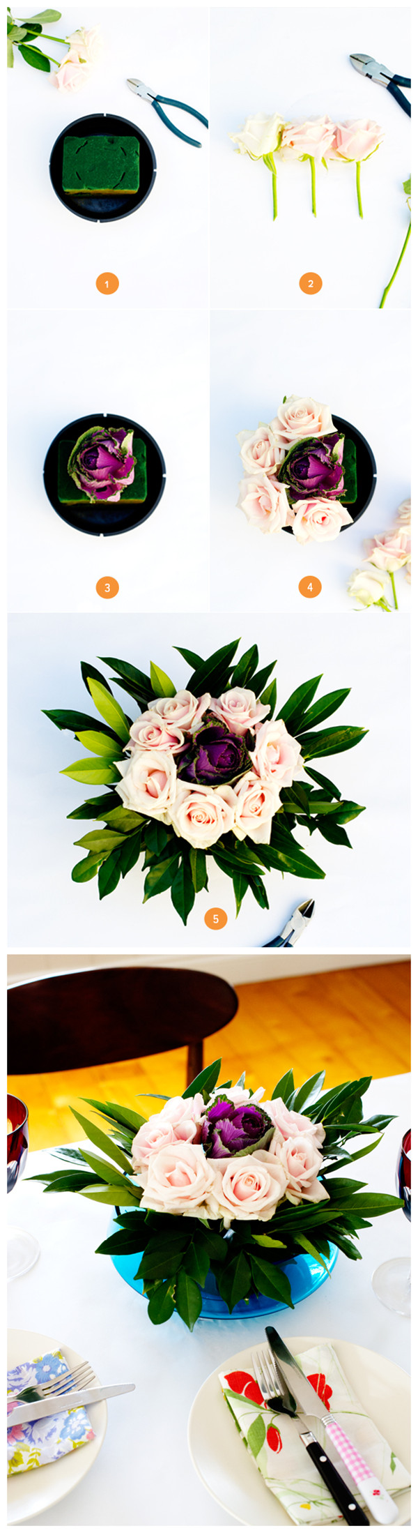 Floral Weding Centerpiece Step by Step