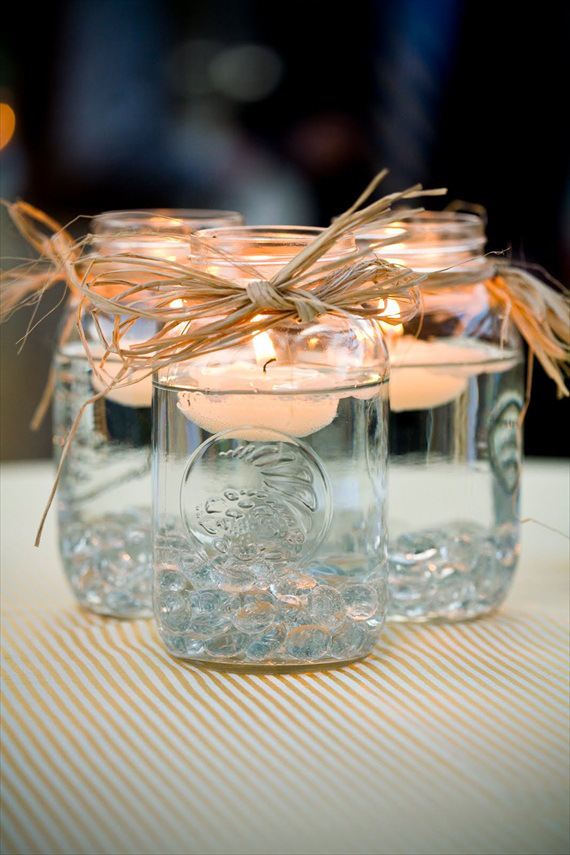 Mason Jar Candle Holders for diy wedding