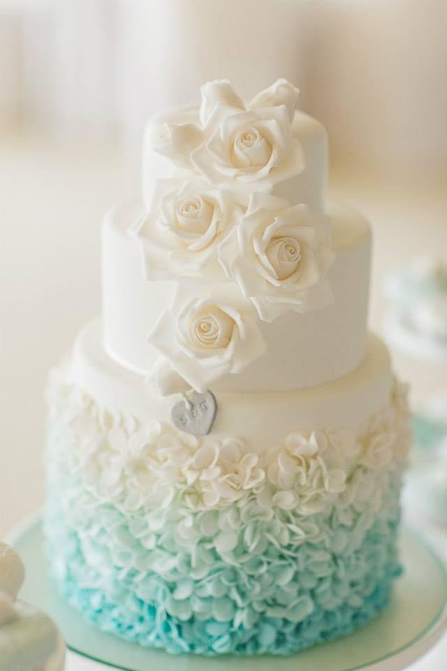 Ombre Unique and Elegant Wedding Cake Ideas