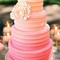 Pink ombre wedding cakes ideas