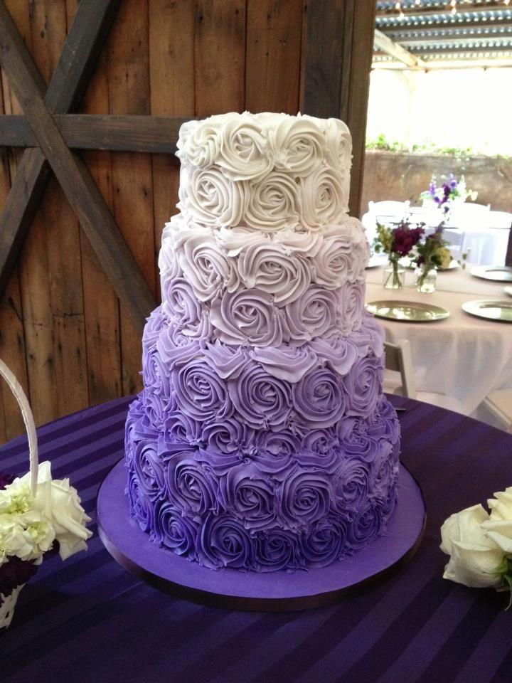 26 oh so pretty ombre wedding cake ideas purple wedding cake wedding ideas for brides junglespirit Gallery