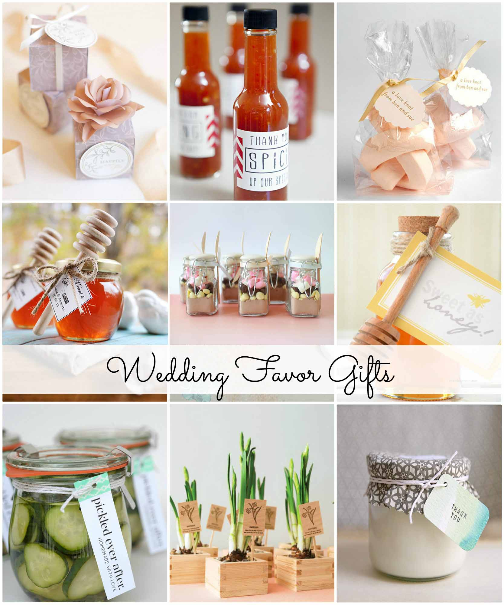 Wedding favors are small gifts for your guests