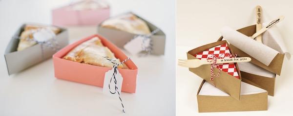 Wedding-Favors slice of pie Everyone loves pie