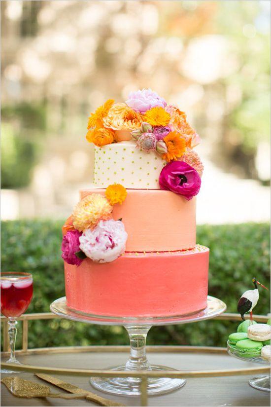 coral cake ideas
