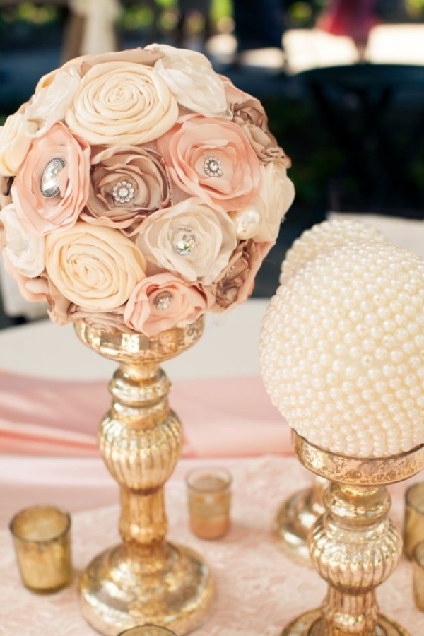 modern vintage wedding reception and table decor