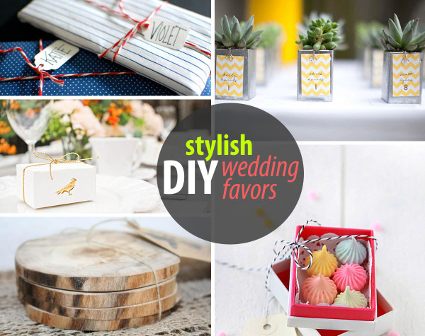 stylish diy wedding favors