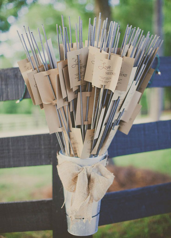 wedding-favors-Light up the night with sparklers