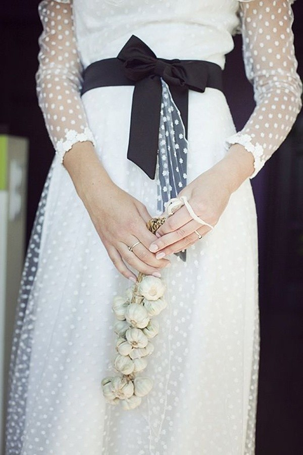 black ribbon simple wedding dresses for fall