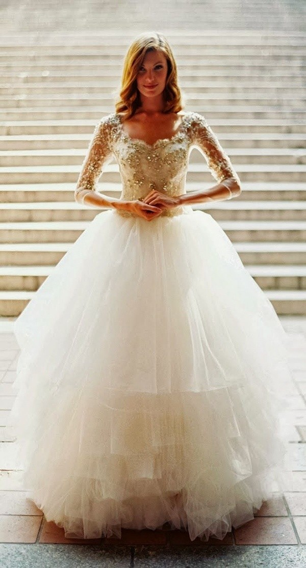 sleeve wedding dresses for fall