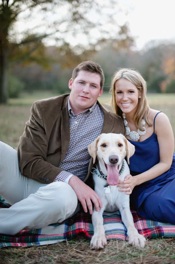 Engagement Photo With The Dog