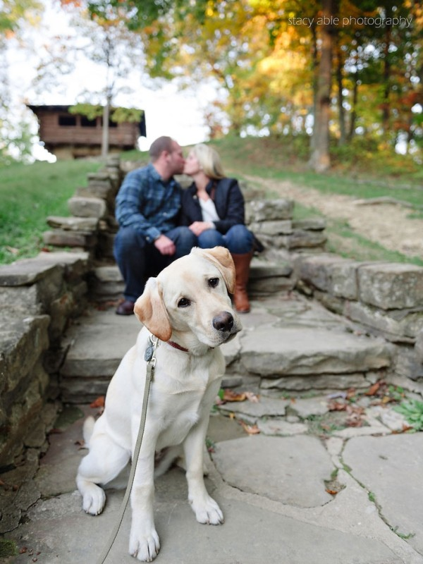 wedding photography Engagement session with dog