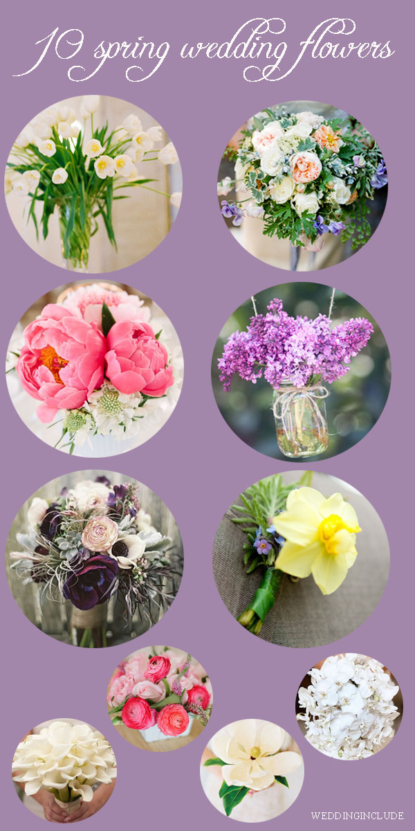 top ten spring wedding flowers