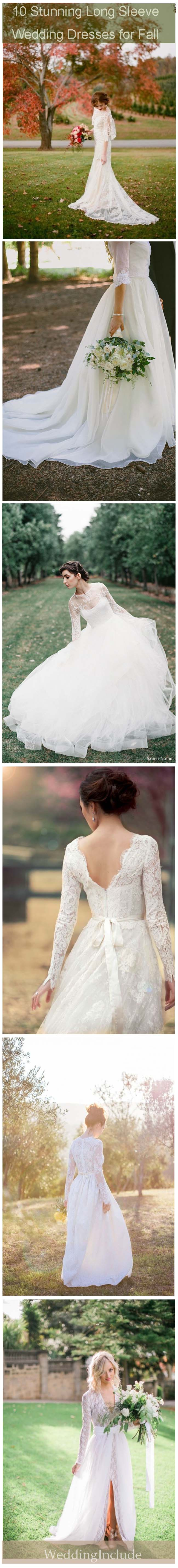 gorgeous long sleeve fall wedding dress 1 5 weddinginclude.com