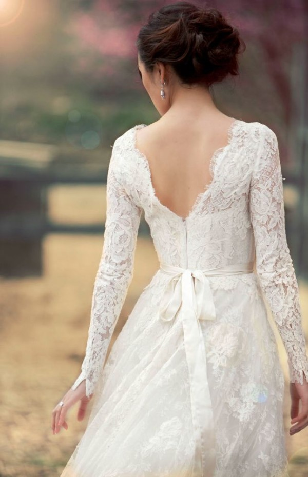 e06af6a599 Stunning Long Sleeve Wedding Dresses for Fall Wedding