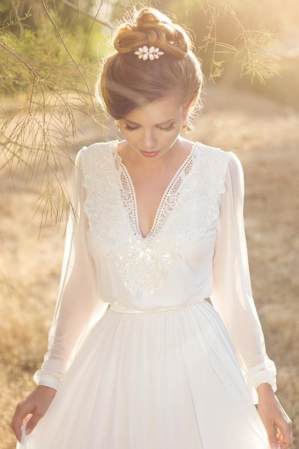 long sleeve wedding dresses for fall