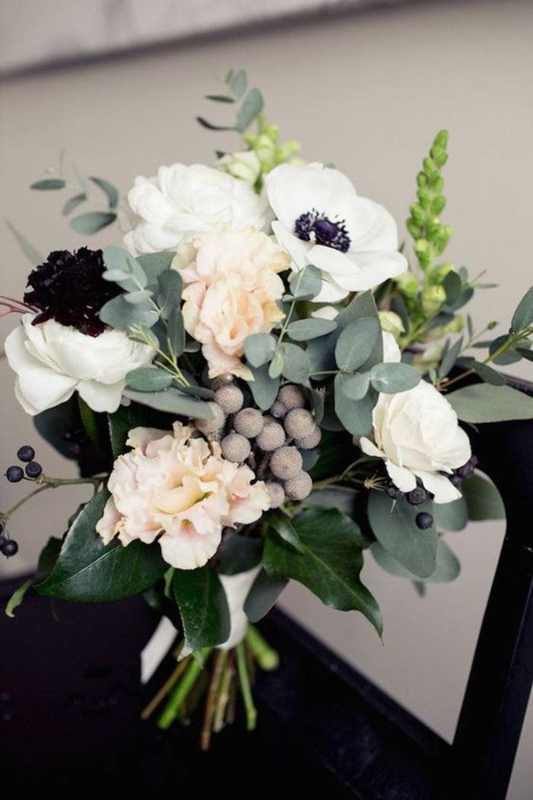 wedding flowers Anemones bouquet ideas
