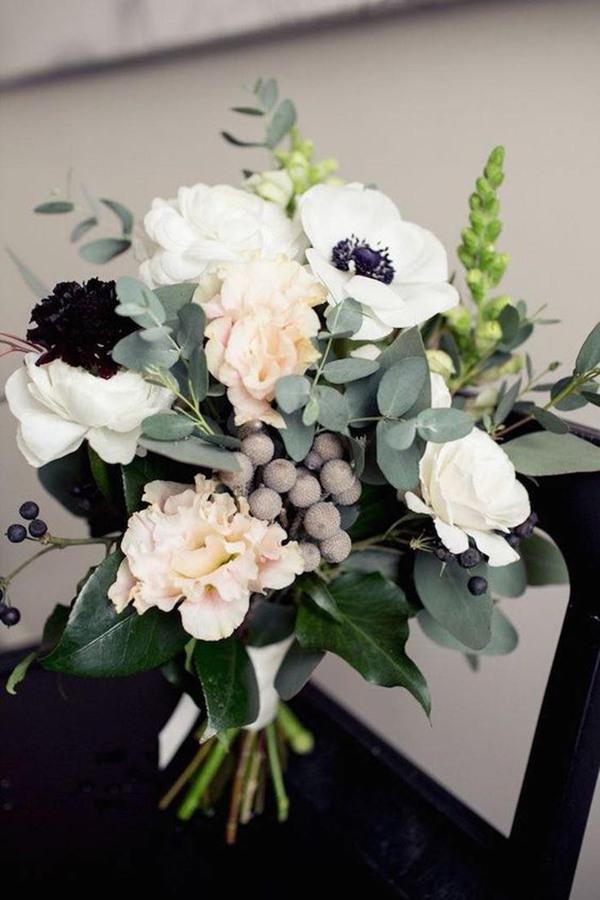 wedding flowers Anemones bouquet ideas