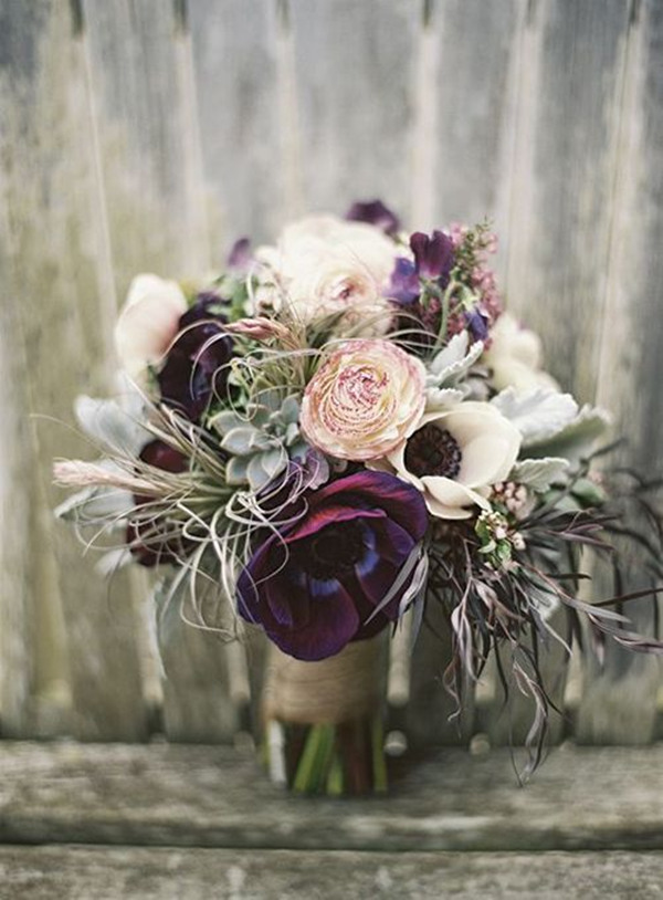 wedding flowers Anemones Centerpiece