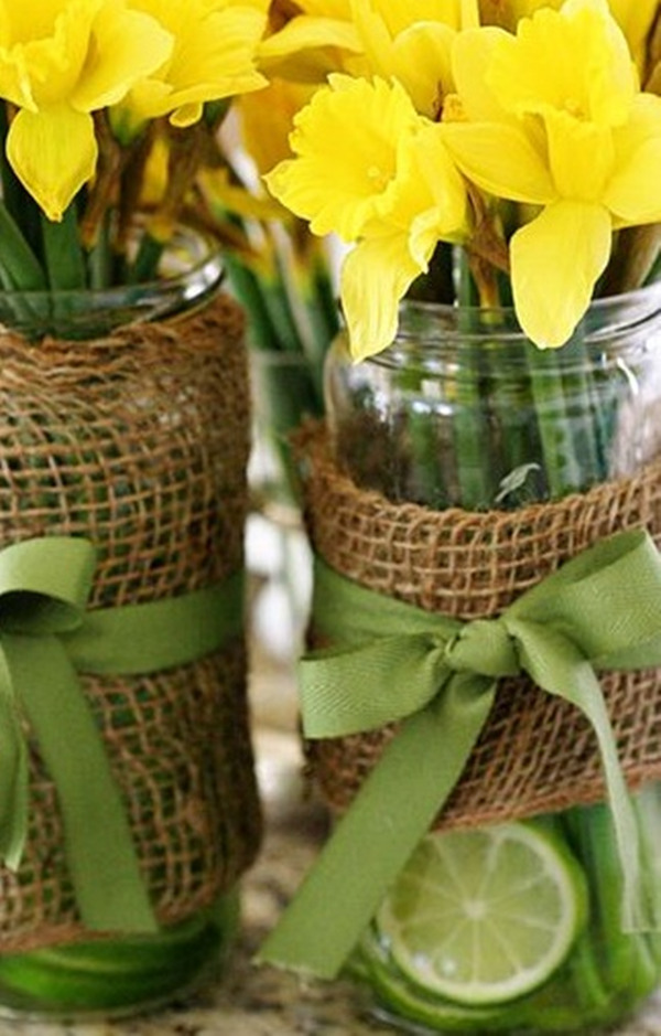 wedding flowers Daffodils Centerpiece