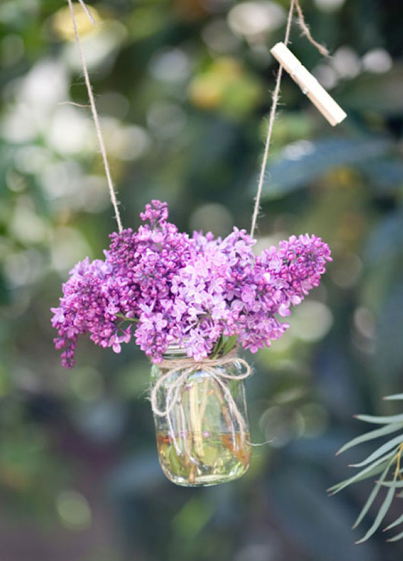 wedding flowers Lilacs purple DIY Wedding Inspiration