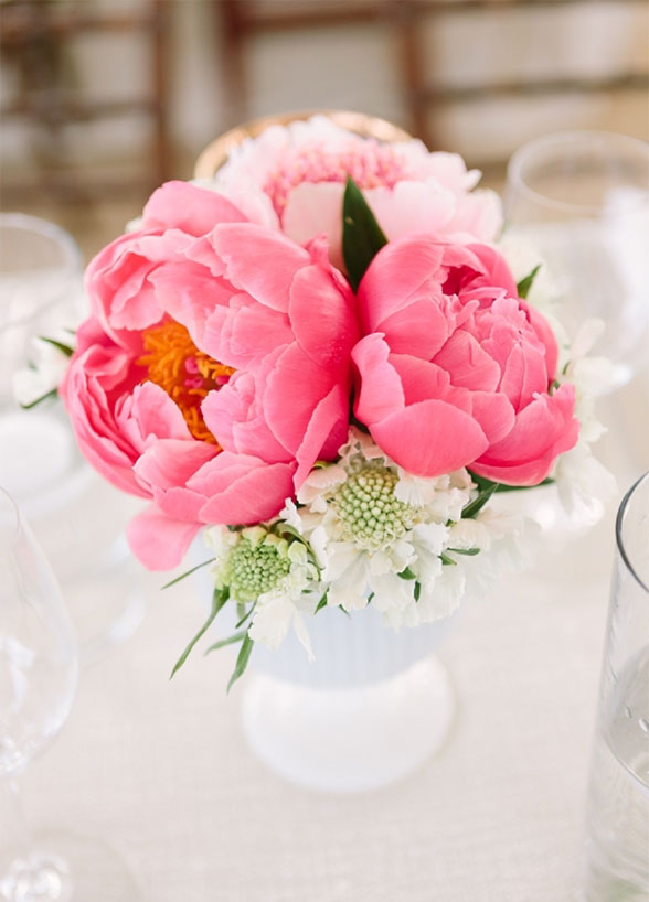 pink wedding flowers Peonies bouquet inspiration