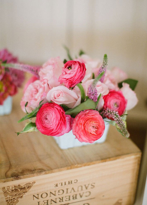 diy Ranunculus wedding flowers