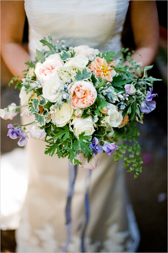 wedding flowers Sweet Pea bouquet inspiration