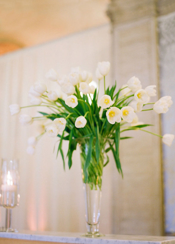 wedding flowers Tulips white spring wedding