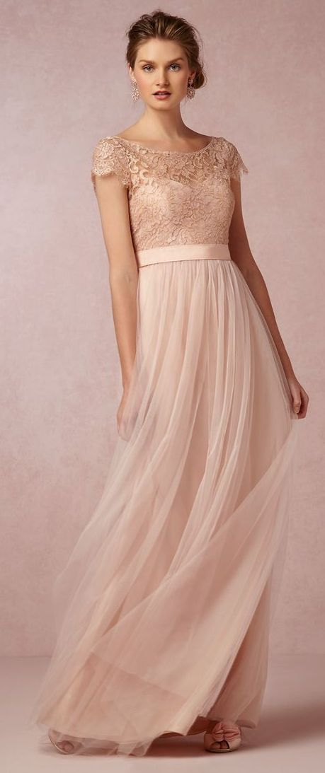 Cap Sleeve Bridesmaid Dress Lace Bridesmaid Dress