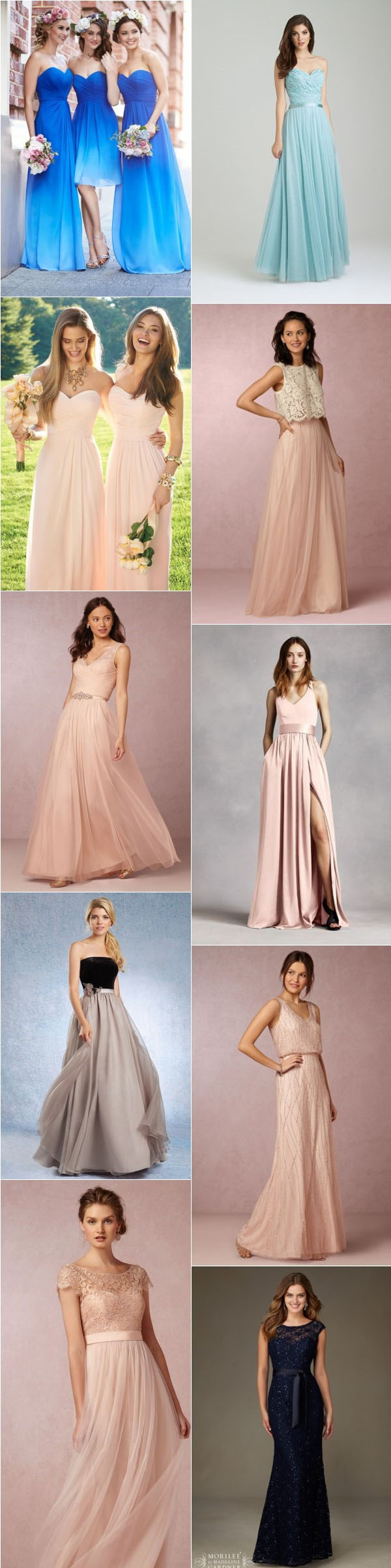 Wedding Ideas-Top 10 Romantic Floor Length Bridesmaid Dresses