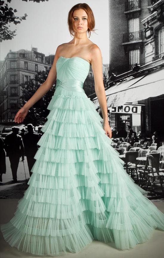 Mint wedding dresses2