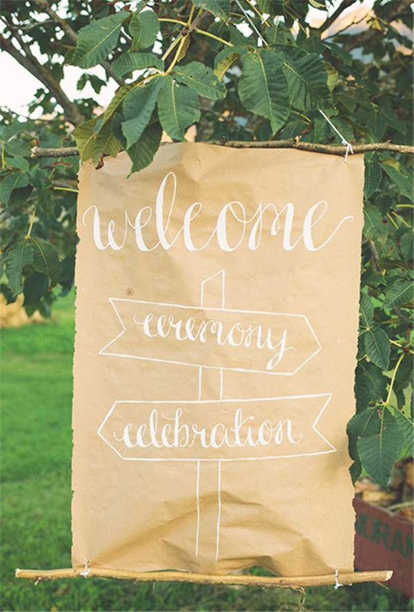 rustic and chalkboard Wedding Welcome Sign Ideas Your Wedding 12