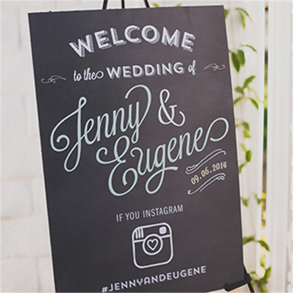 rustic and chalkboard Wedding Welcome Sign Ideas Your Wedding 14