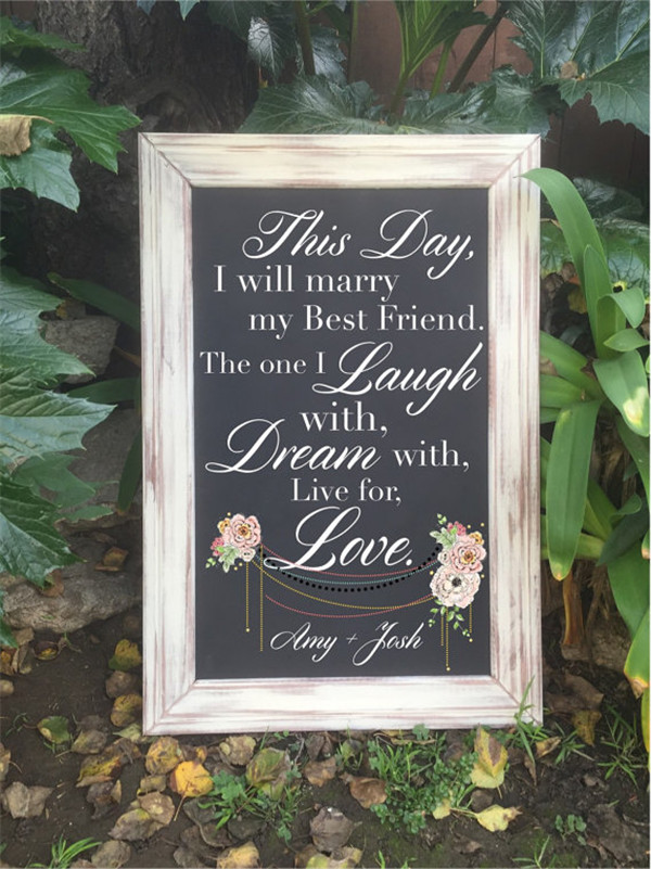 rustic and chalkboard Wedding Welcome Sign Ideas Your Wedding 15
