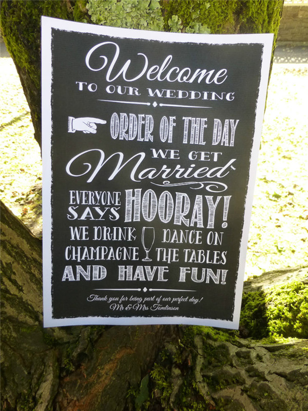 rustic and chalkboard Wedding Welcome Sign Ideas Your Wedding 16