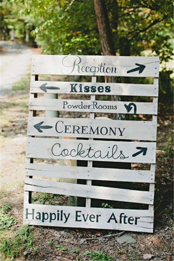 rustic and chalkboard Wedding Welcome Sign Ideas Your Wedding 3