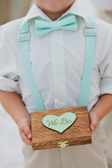 Mint green we do ring bearer box weddinginclude wedding ideas mint green we do ring bearer box junglespirit Image collections